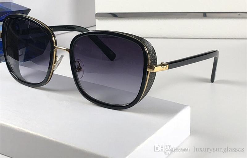 Luxus Elvas Designer Sonnenbrille Shiny Chip Plate Charm Frame Top-Qualität Anti-UV-Objektiv Spiegel Beliebte Glasse Abnehmbare Kommen mit Fall