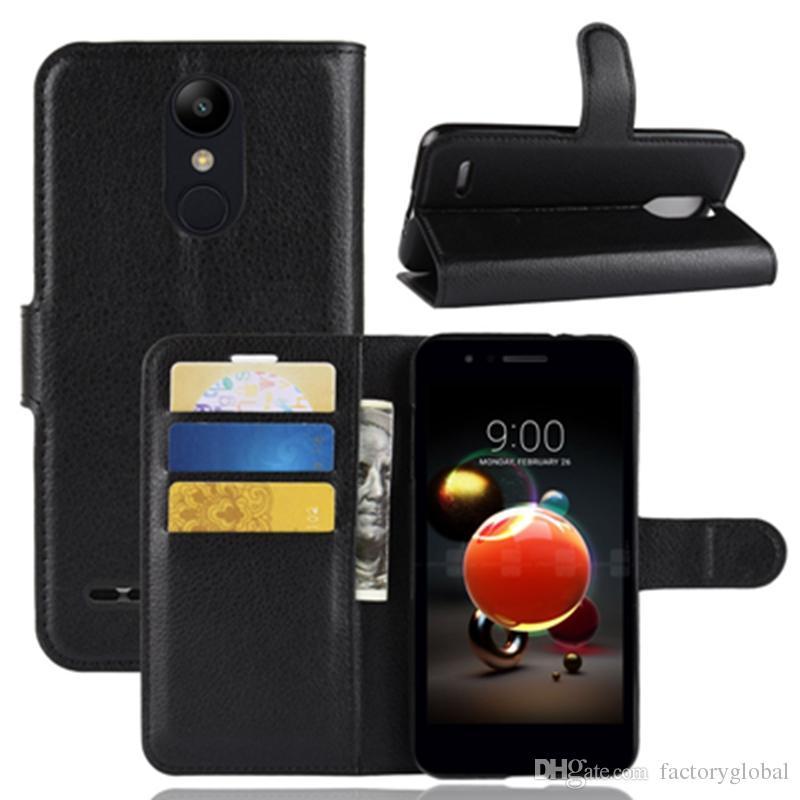 Copertura di vibrazione di alta qualità Custodia in pelle Portafoto Cornice per foto Slot per scheda ID Copertura di vibrazione per LG Q7 / K10 / K8 / X Potenza 3