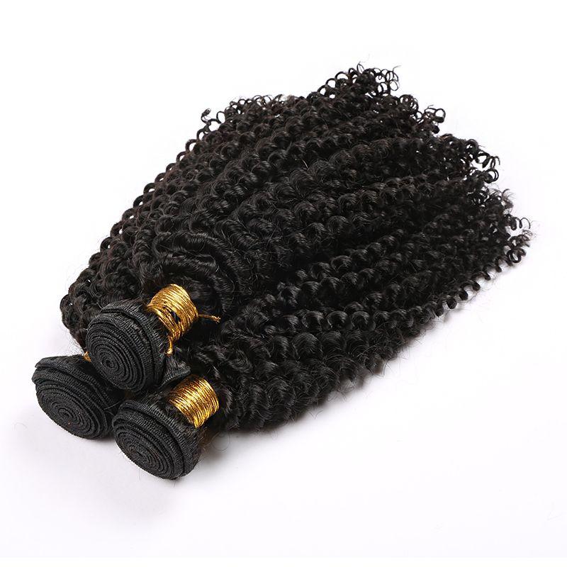 capelli umani per intrecciare i capelli ricci malesi BUDLES capelli dell'onda del corpo tesse l'onda dell'acqua dritto tessuto umano cuticola dell'onda cuticola allineato Vergine