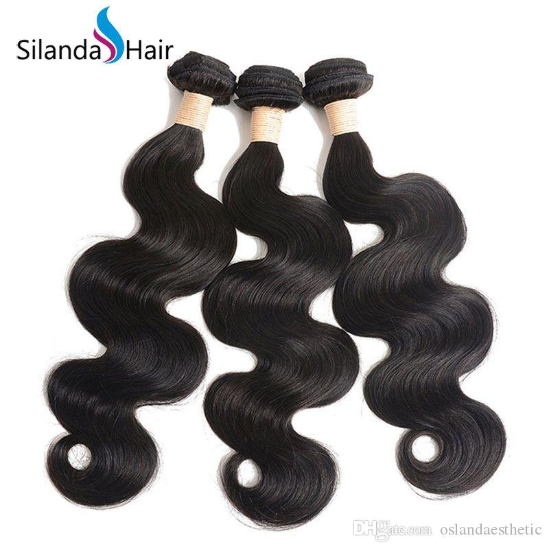 Silanda Hair Popular Cheap Natural Color Body Wave Hair Weft Remy Human Hair Weaves for Black Women 3pcs per pack Free Shipping