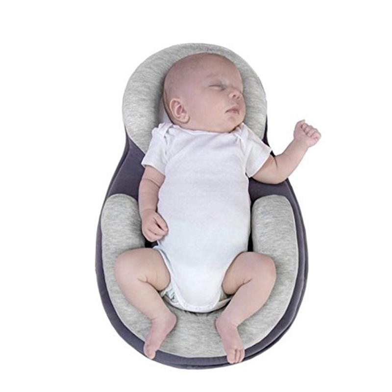 Multifunction Baby Crib Travel Sleep Pillow Newborn Anti-rollover Safety Cushion Baby Sleep Positioning Pad Portable Folding Bed