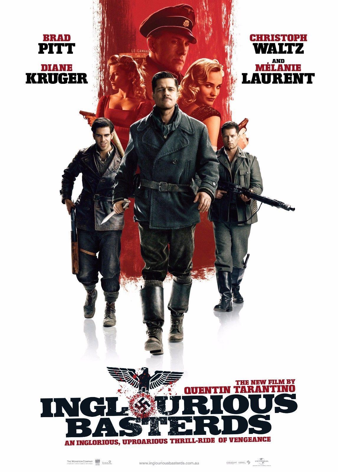 Compre Inglourious Basterds Filme Art Silk Poster 20x30 24x36 ...
