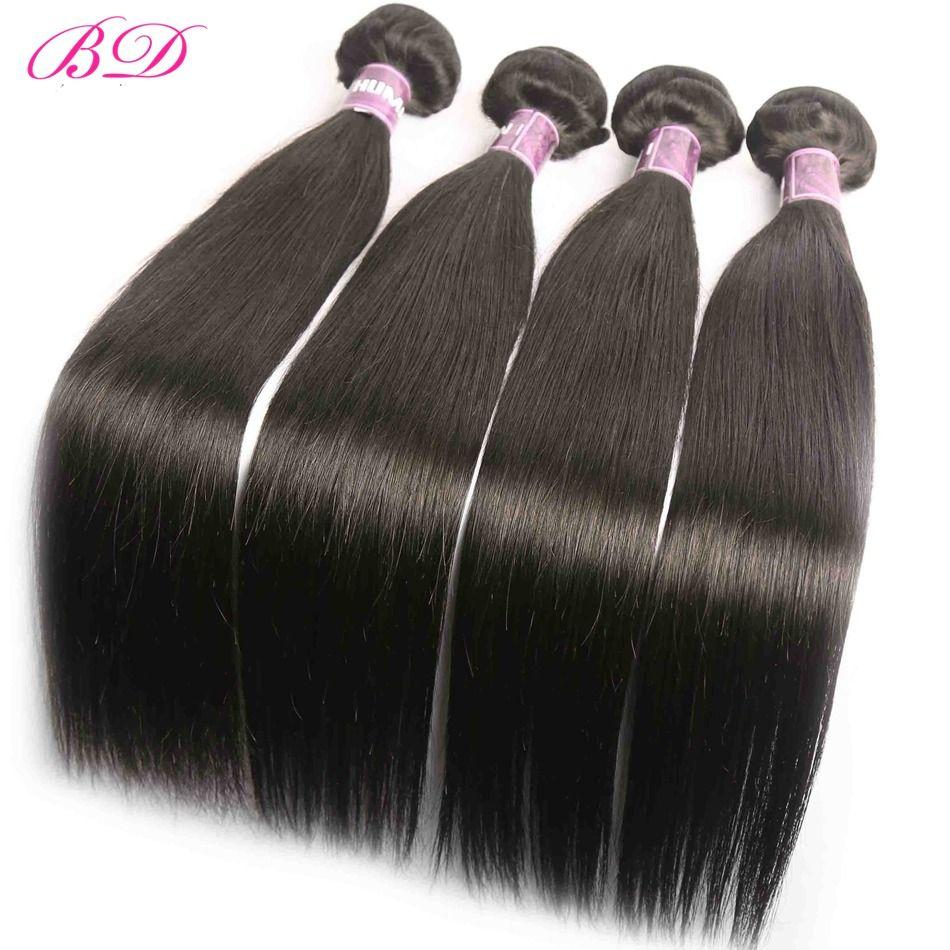 BD Hair 3 Bundles Deal Peruvian Straight Body Wave Allungamento dei capelli sciolti Fasci di capelli umani da 10-26 pollici non remy