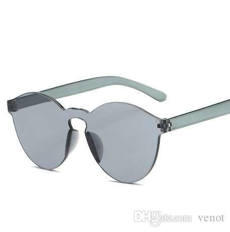 Лето женщины Rimless солнцезащитные очки прозрачные оттенки солнцезащитные очки женский прохладный конфеты цвет UV400 очки Oculos De Sol