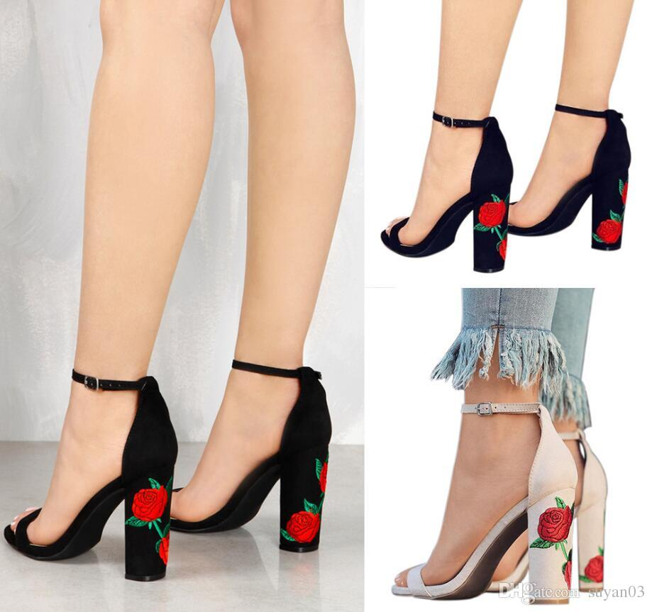 half off price reduced unique design Pointed Strappy Pumps Sexy Retro High Thick Heels Shoes New Woman Shoes  Female Lace Up Shoes High Heels Wedding Shoes Italian Wedding Shoes From ...