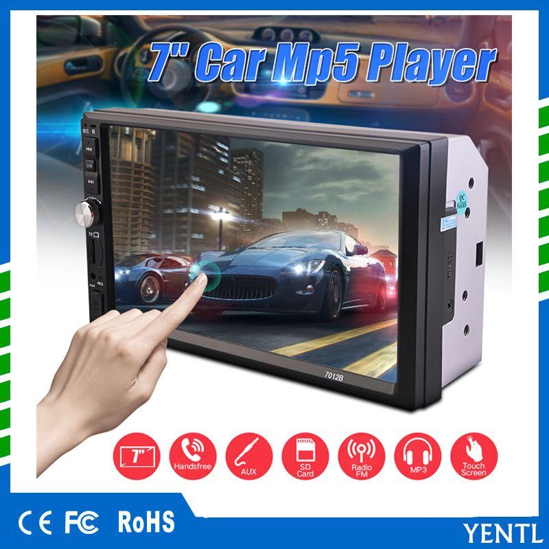 Freies Verschiffen YENTL 2 Lärm-Auto-Video-Player Auto-DVD-7-Zoll-Bluetooth FM Radio-MP5