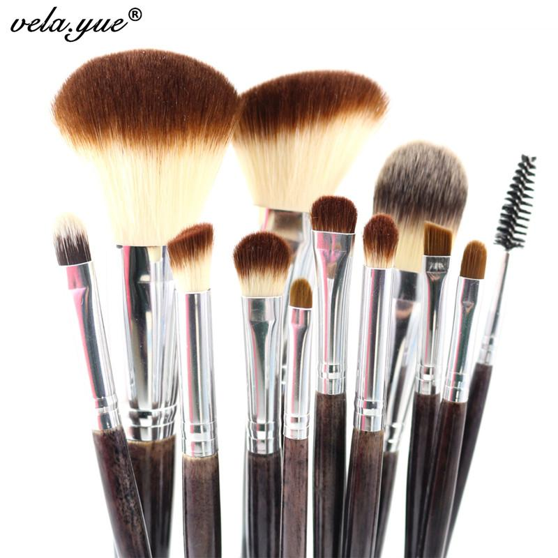 Professionelle Make-up Pinsel Set 12 stücke Hohe Qualität Makeup Tools Kit Violet Gesichts Pinsel Foundation Pinsel