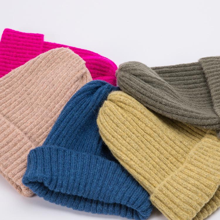 Woolen Hüte für Männer und Frauen kurz für Männer und Frauen Hüte trendige wies Hüte Mode lässig warme Strickmütze Ski Caps