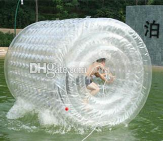 Free Shipping Inflatable Water Roller,Walking Ball Play Equipment Water Roller , Rolling Zorb Ball And Send a Electric Inflatable Pump