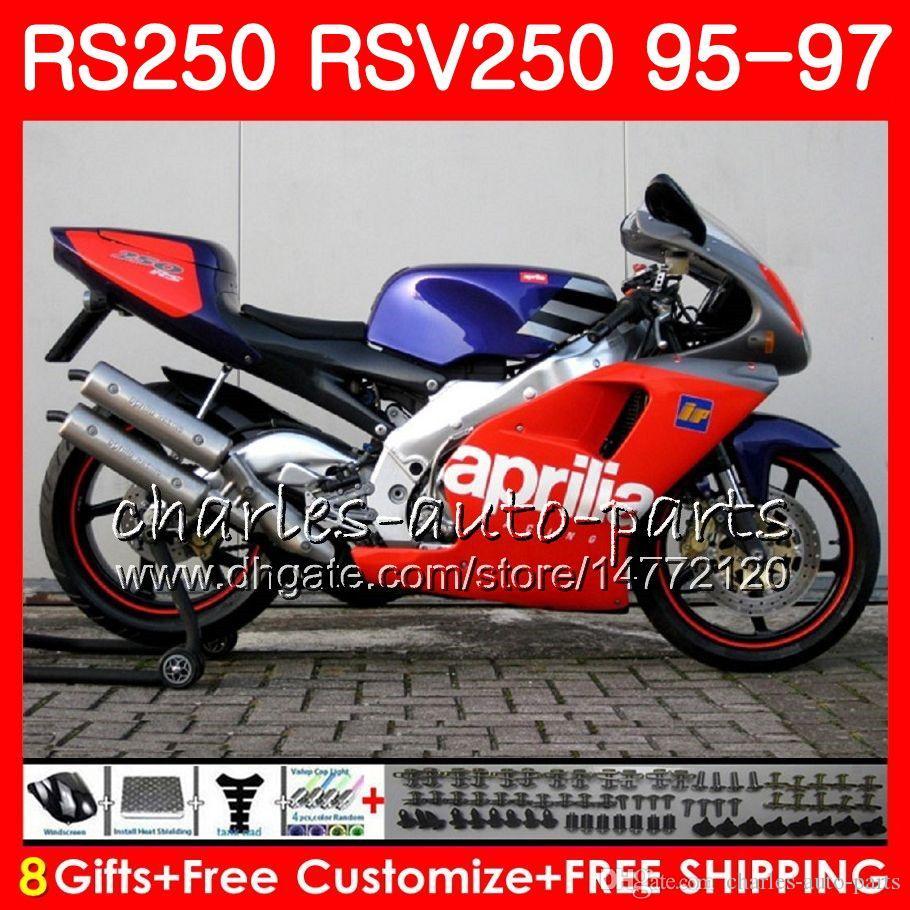 Кузов для Aprilia RS-250 RSV250 RS250 95 96 97 кузов 101HM.0 RSV250RR RS250R 95 97 RSV 250 RR RS 250 1995 1996 1997 Обтекатель фабрика красный