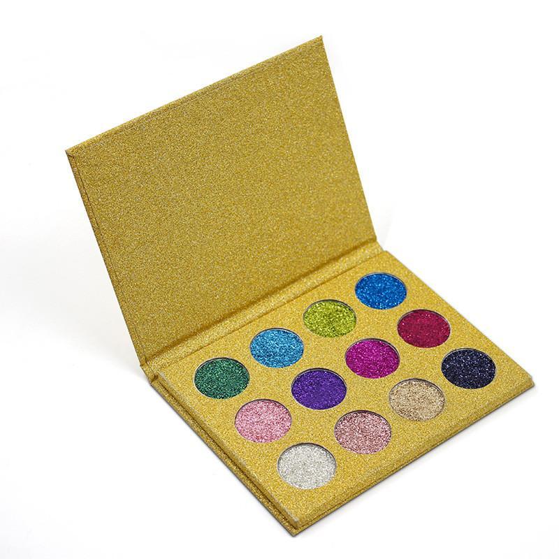 Moda Glitter Injeções Pressionado Glitters Única Sombra Diamante Rainbow Make Up Maquiagem Cosméticos sombra Do Ímã Paleta bea503