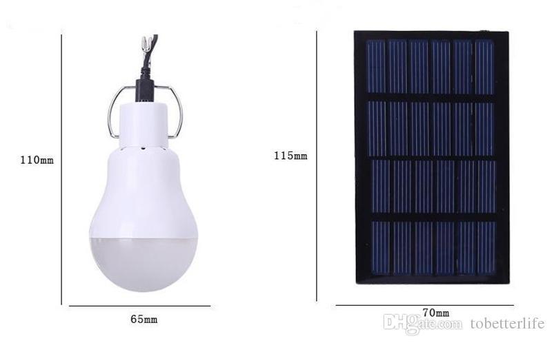 Ampoule Solaire Portable LED /à Energie Solaire Lumi/ère Lampe Solaire avec Panneau Aliment/é par batterie Solaire pour Eclairage Ext/érieur Randonn/ée Camping Tente de P/êche Lampe Solaire Camping 1.2W