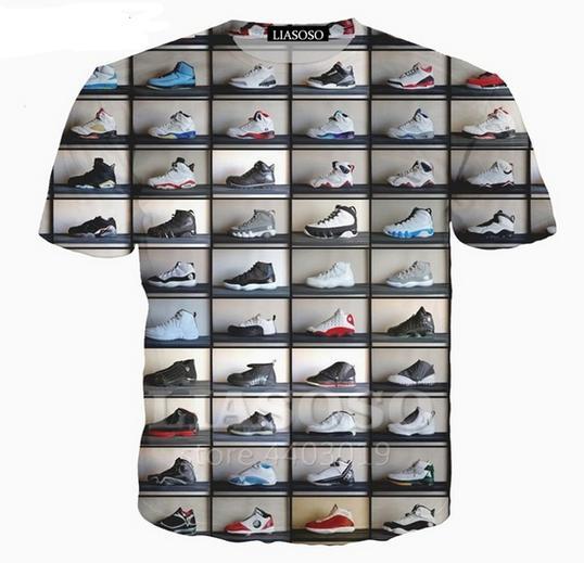 Los zapatos más nuevos del Mens / Womans clásico del estilo de Verano divertido en 3D Imprimir tapas de la camiseta ocasional más ZGX049 Tamaño