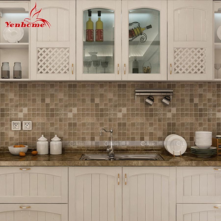 5Meter Pvc Wall Sticker Bathroom Waterproof Self Adhesive Wallpaper Kitchen  Mosaic Tile Stickers For Walls Decal Home Decoration Word Wall Stickers ...
