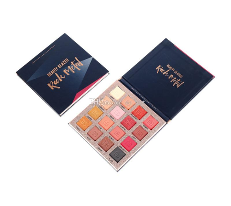 NEW! Makeup Beauty Glazed Rock Metal 16colors Eyeshadow palette Shimmer Eye Shadow DHL shipping
