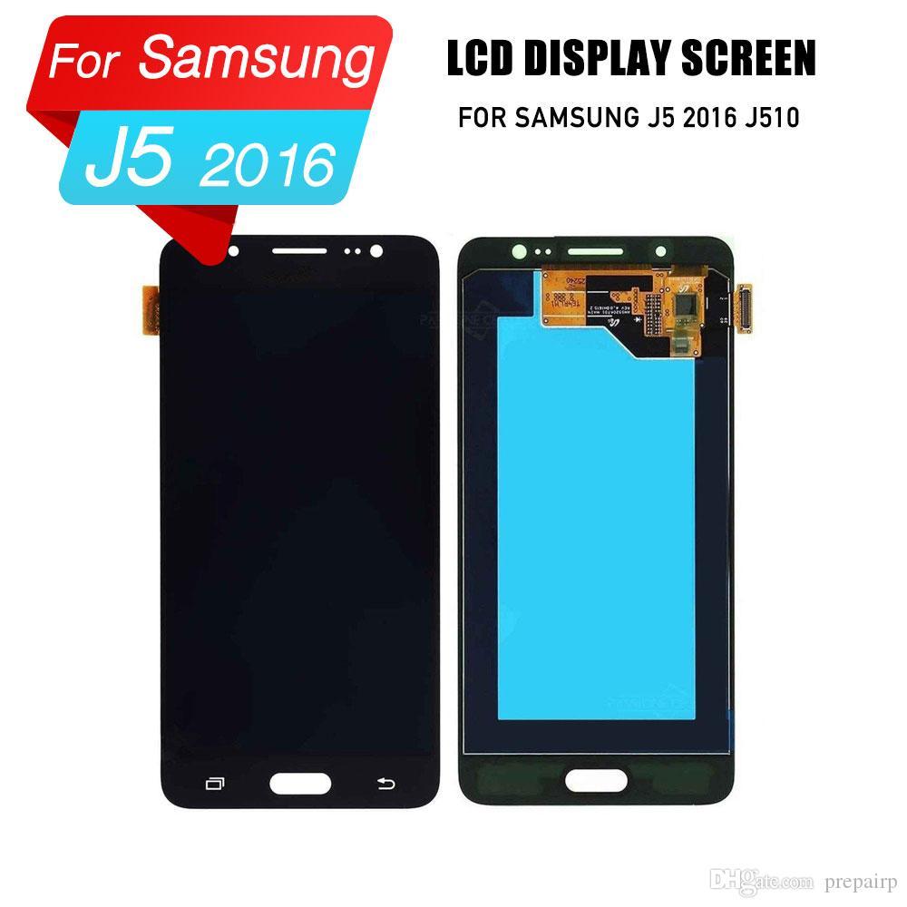 Samsung j5 2016 için prepairP lcd ekran lcd sayısallaştırıcı ekran meclisi samsung j5 2016 j510f j510fn j510M