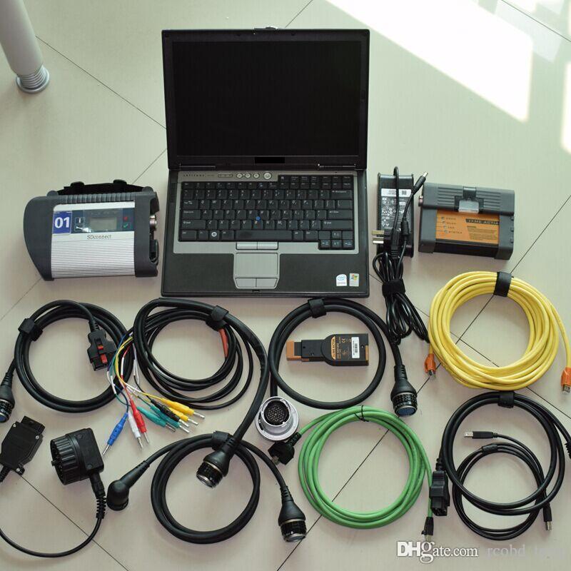 Lo strumento di scanner diagnostico più nuovo 2in1 MB STAR C4 e per BMW ICOM A2 HDD 1 TB esperto con laptop D630 Pronto all'uso