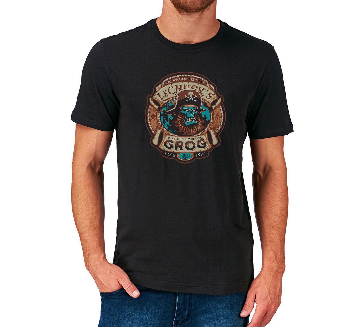 Grog T Shirt Monkey Island Pirate New Fashion Men's T-shirt Cool Summer Tees
