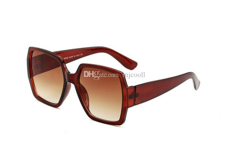 55931 Sonnenbrille fwomen große Rahmen Sonnenbrille weibliche runde Gesicht Sterne Brille