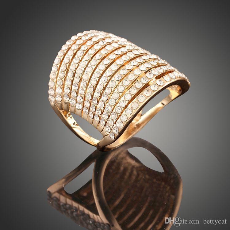 Chegada nova dos homens mulheres moda jóias real diamante montado liga cristais anel sexy amor do dia dos namorados presente festival de natal