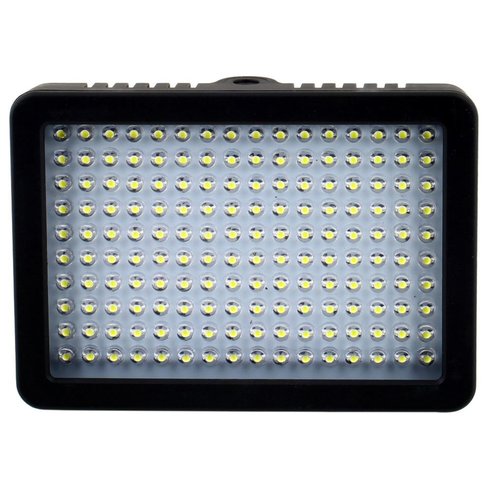 10.5 w 1280lm 5600 k / 3200 k câmera hd 160 led lâmpada de luz de vídeo pode ser escurecido para canon nikon pentax dslr camera filmadora de vídeo