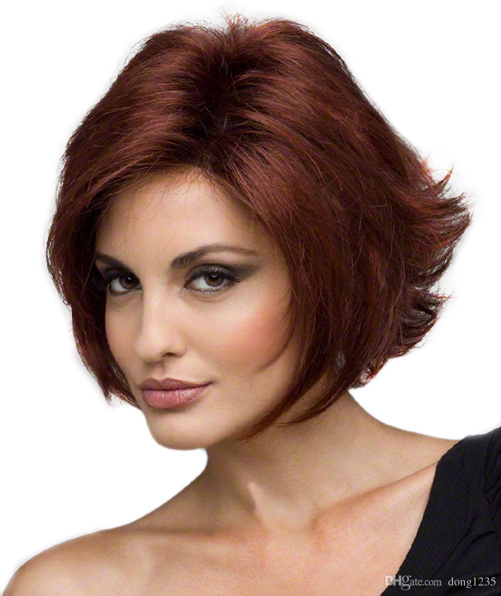 Moda Mulher curto ondulado resistente ao calor peruca de cabelo Cosplay / Perucas Brow gratuito Shipping100% Brand New Alta Qualidade Moda Imagem perucas completo