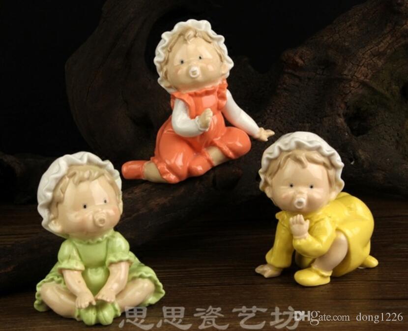 mini ceramica carino capezzolo Kids Room ragazzo bambino creativo home decor artigianato decorazione della stanza artigianato figurine decorazione di nozze