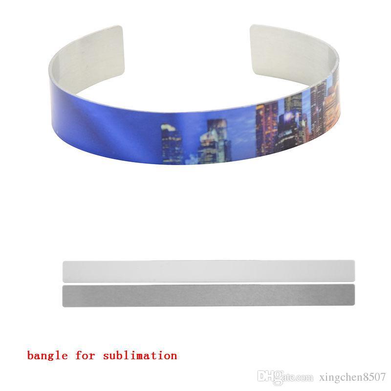 breites Manschettenarmband für Sublimationsaluminiumarmbänder für Frauen kundengerechtes Sublimationsschmuckgeschenk für Freunde 50pcs / lot