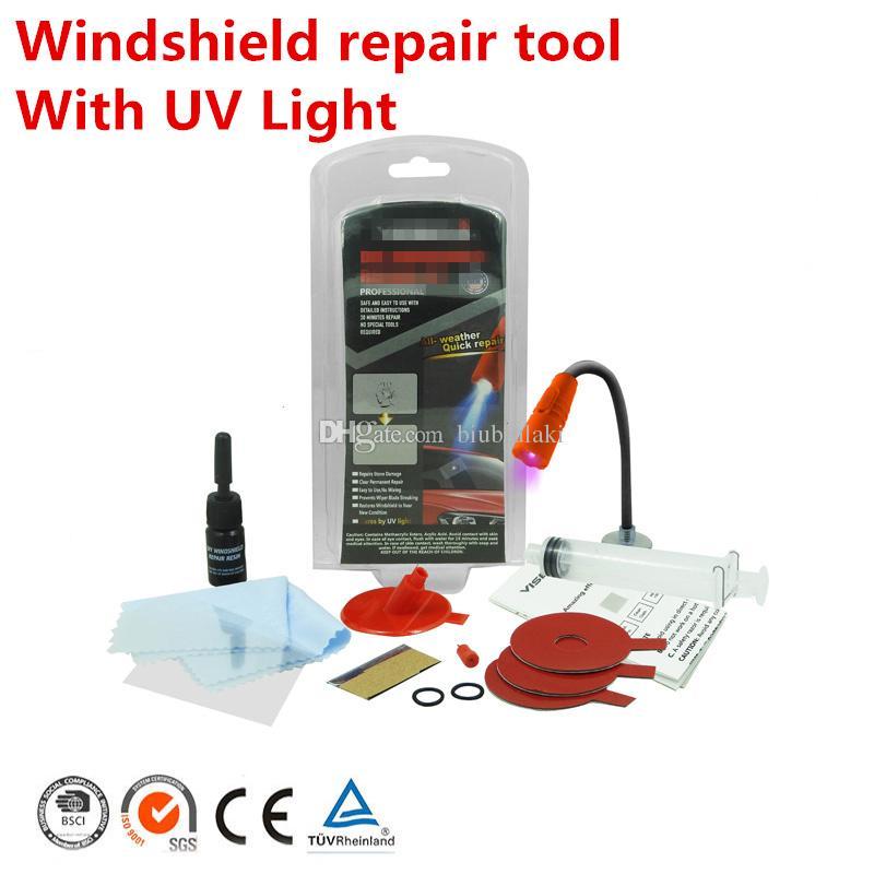Car window repair Windscreen Glass renwal Tools Auto Windshield Scratch Crack Restore window Polishing Kit fast With UV Light Free shipping
