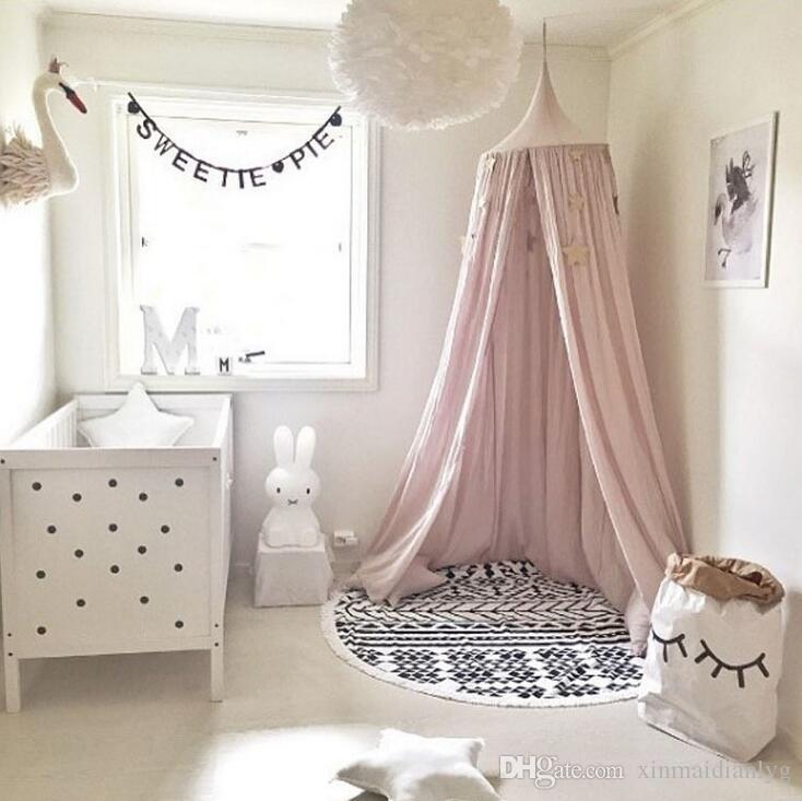Tenda per letto a baldacchino per bambini, soffitto tondo appeso a tenda zanzariera baby player Z-5