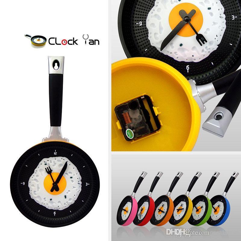 الجملة-- أمليت عموم ساعة فراي عموم مطبخ البيض المقلي تصميم ساعة الحائط ديكور المنزل شحن مجاني XL-209