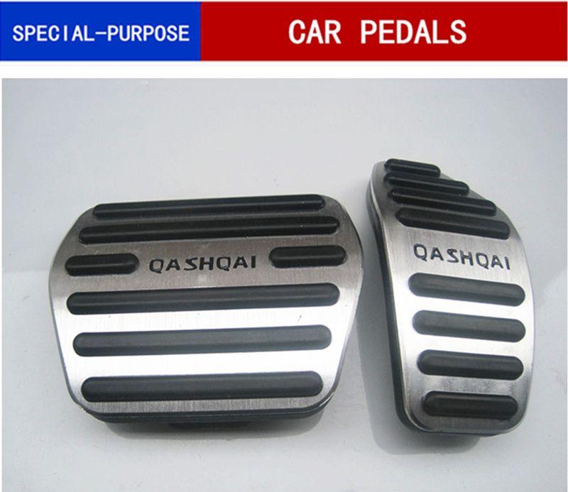 Авто аксессуары Алюминиевые педали автомобиля для Nissan Qashqai J11 2014-2017 AT автомобиль педали акселератора ноги занос пластина / Non-Slip педаль