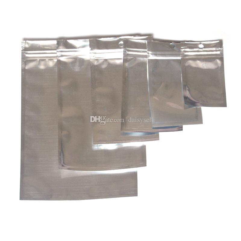 Несколько размеров алюминиевой фольги ясно закрывающийся клапан молния пластиковая розничная упаковка упаковка мешок Zip Lock Mylar мешок Ziplock пакет мешки