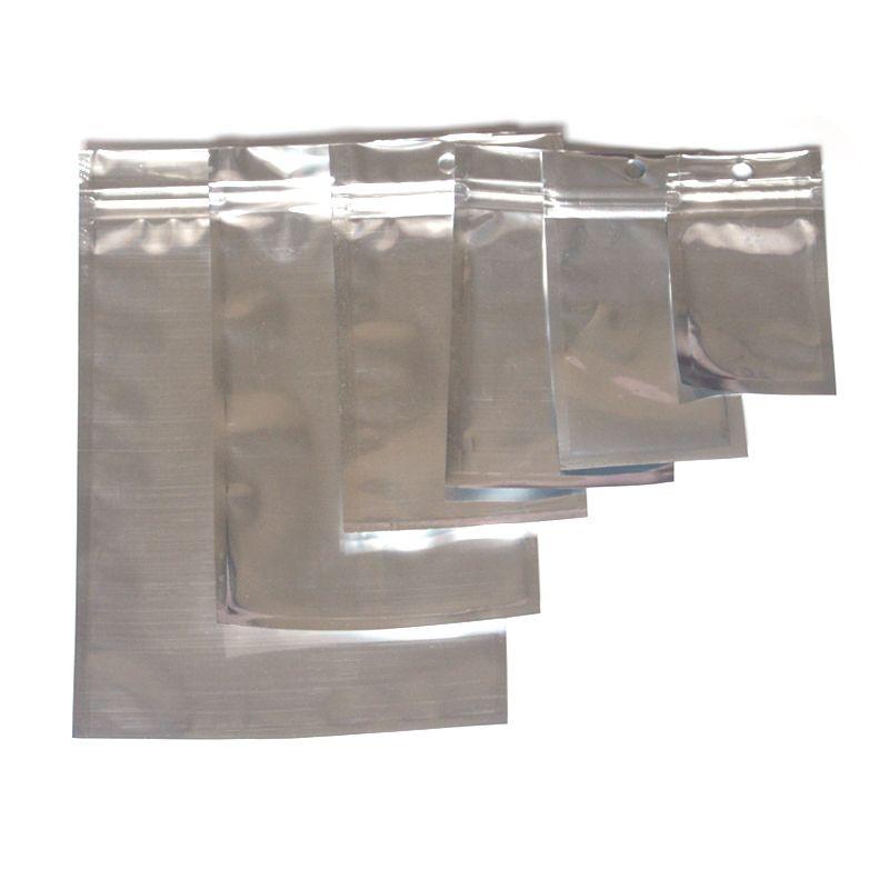 Múltiplos tamanhos folha de alumínio claro Válvula Revolable Zipper Plástico Embalagem de Embalagem de Embalagem Saco Zip Bloqueio Mylar Mylar Bolsas De Pacote Ziplock