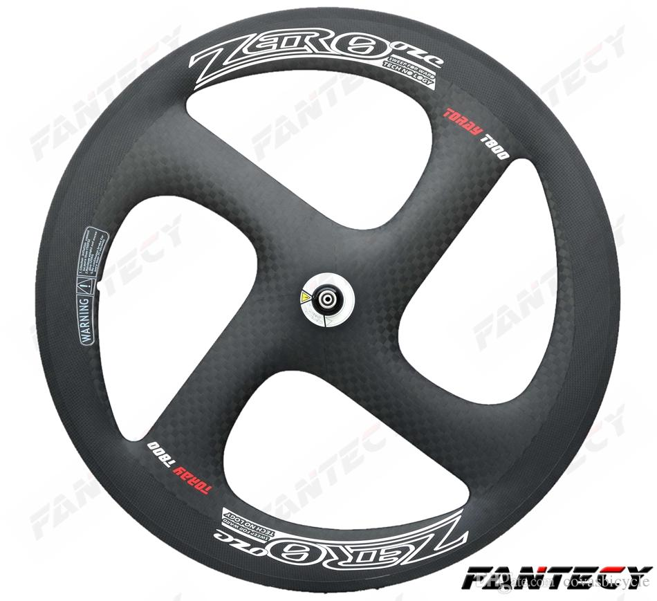 High quality!700C Zero 4-spoke carbon wheels 20.5mm width for Road /Track Bike tubular /clincher carbon Wheelset