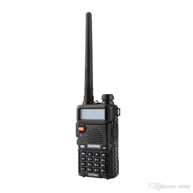 뜨거운 BaoFeng UV-5R UV5R 워키 토키 듀얼 밴드 136-174Mhz 400-520Mhz 양방향 라디오 송수화기 1800mAH 배터리 무료 이어폰 (BF-UV5R)
