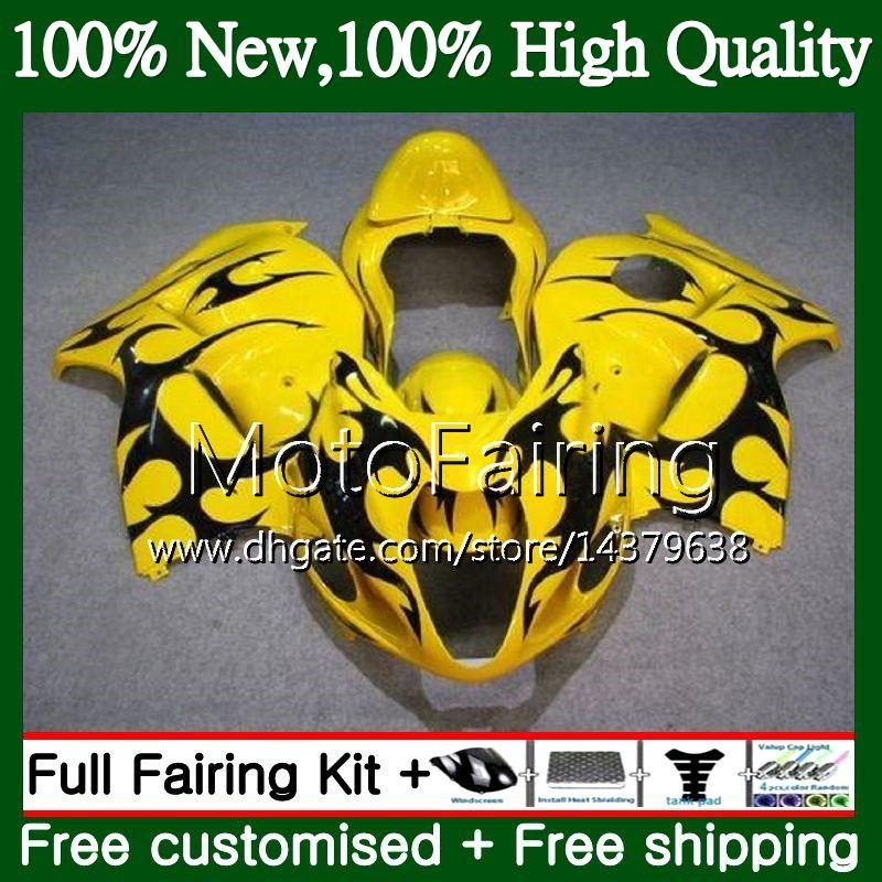 Corpo per Suzuki Hayabusa GSXR1300 08 09 10 11 Giallo nero 19MFAA GSX R1300 2009 2009 2010 GSXR 1300 12 13 14 15 Bodywork carenatura