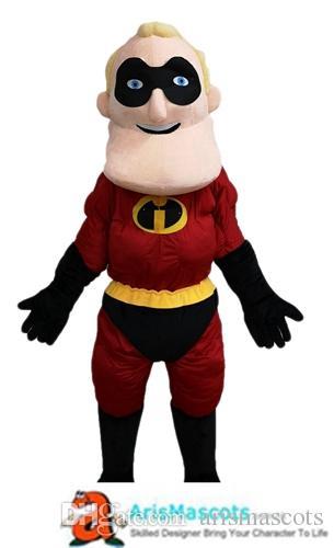 adulte drôle de personnage de dessin animé costume de mascotte Superhero Mascottes pour l'équipe de publicité mascotte Mascottes sur mesure animaux déguisement Mascotte
