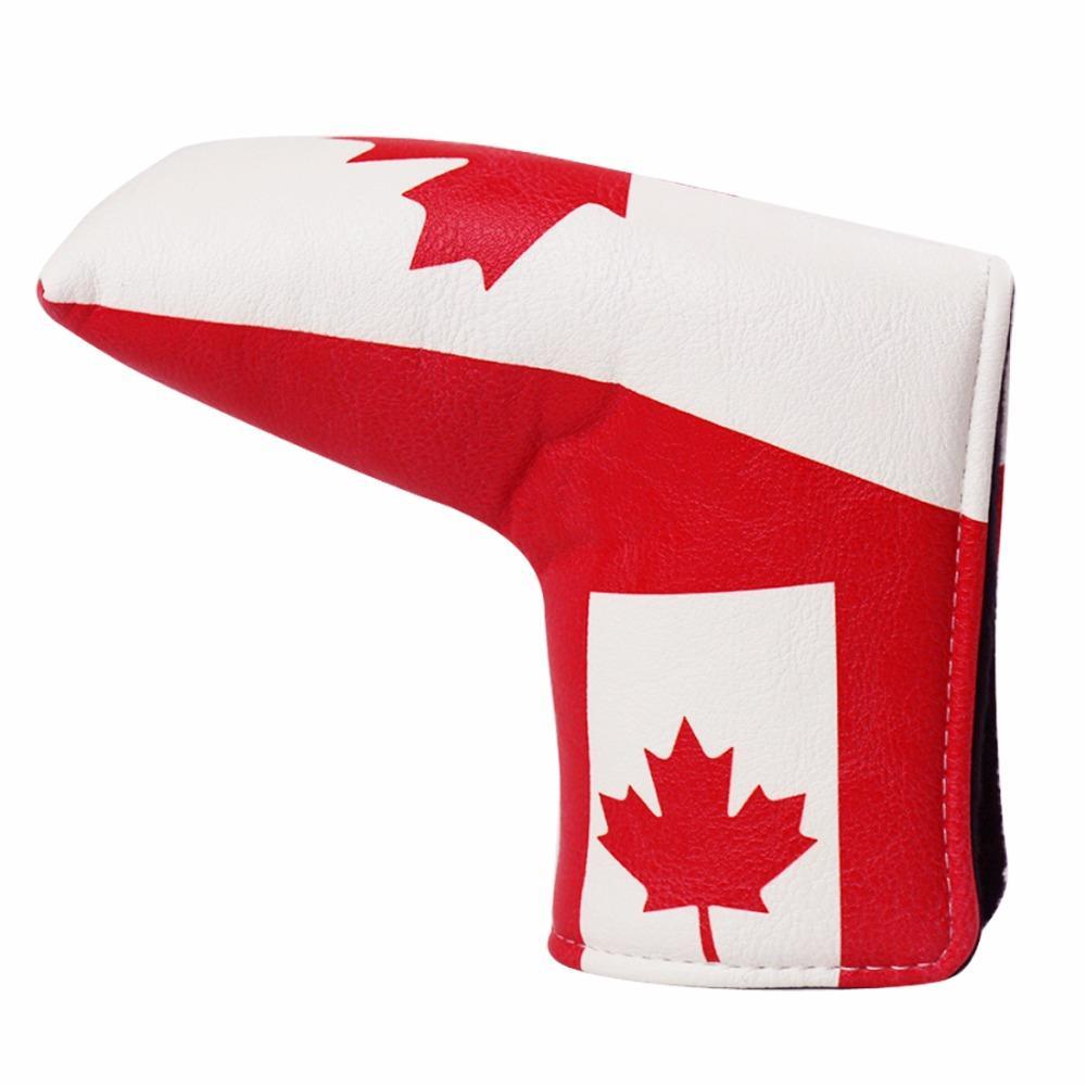 1PC Golf Putter Cover Blade Putter Funda-Canadá Bandera Putter Cover