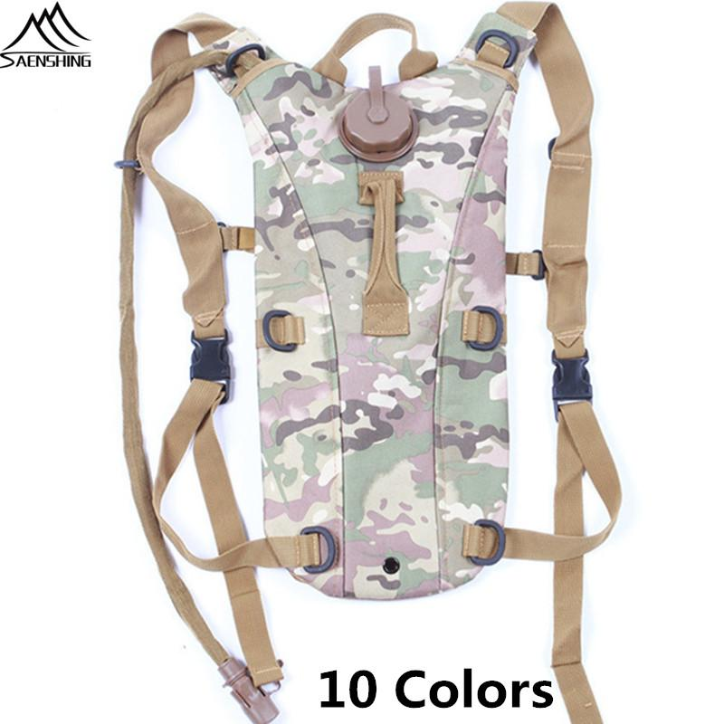 Portable Camel Water Bladder Bag 3L Hydration PacCamo Tactical Bike Water Bag Assault Backpack Camping Hiking Pouch