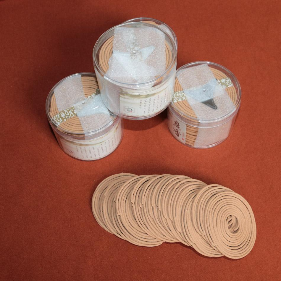 Promoción Bobina de incienso indio natural de sándalo 48 bobinas por caja Quema de 4 horas / bobina bobinas de bobina incenso aromático
