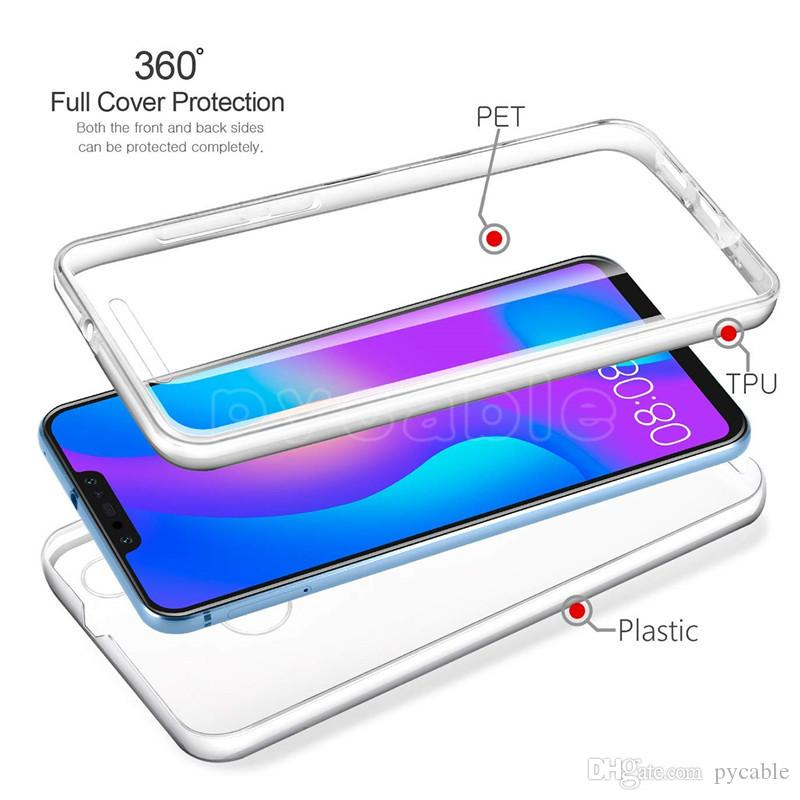 premium selection be365 38853 For HUAWEI Y9 2018 Case TPU Silicone Soft 360 Full Body Clear Case For  HUAWEI Mate10 Lite P9 P8LITE PET Screen Front Cover Cell Phone Case Mobile  ...