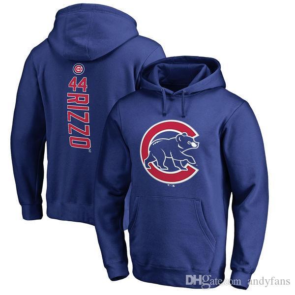Chicago-Junge Hoodies Anthony Rizzo Kris Bryant Javier Baez Ryne Sandberg Schwarber Pullover Sweatshirt