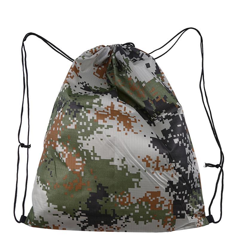 WCIC Naylon Büyük Kapasiteli Ambalaj Packback İpli Omuz Seyahat Alışveriş Sırt Çantası Katlanır Giysi Saklama Kılıfı