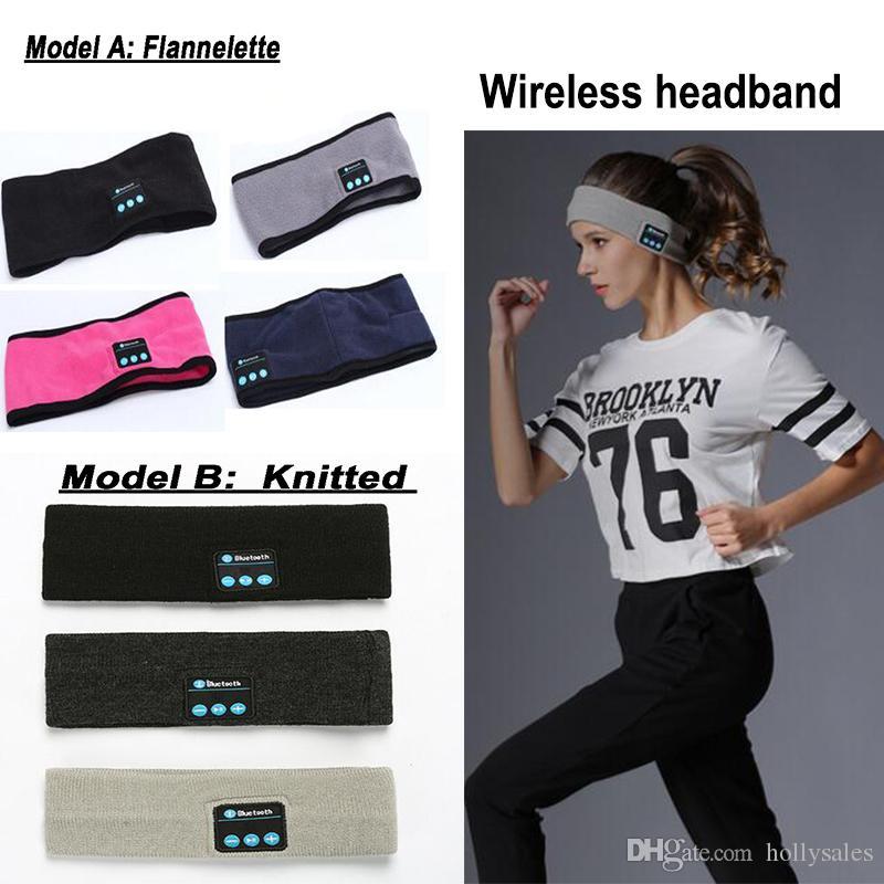 New Knitting Music Headband Headsets with Mic Wireless Bluetooth Earphone Headphone speaker For Running Yoga Gym Sleep Sports Earpiece