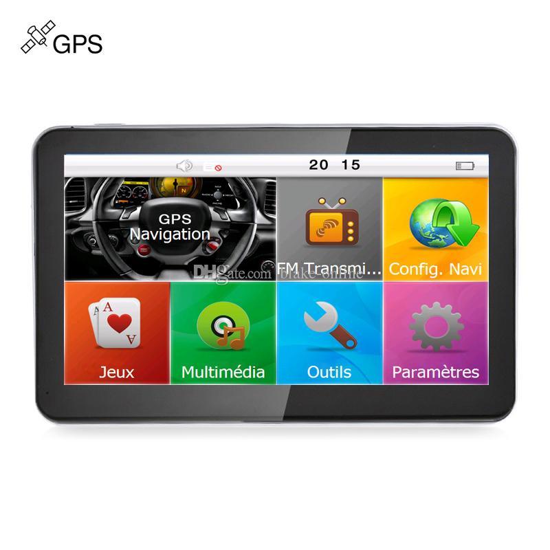 HD 7 inch Car GPS Navigation Multilingual Truck Auto Sat Nav Navigator Bluetooth Hands Free AVIN FM DDR256MB 8GB Free Multi-country Maps