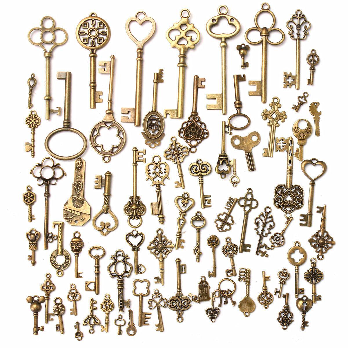 Retro Key DIY Metal Key 70 Mix Creative Jewelry Accessories Popular Jewelry Decorative Zippers Decor Gifts Support FBA Drop Shipping G993F