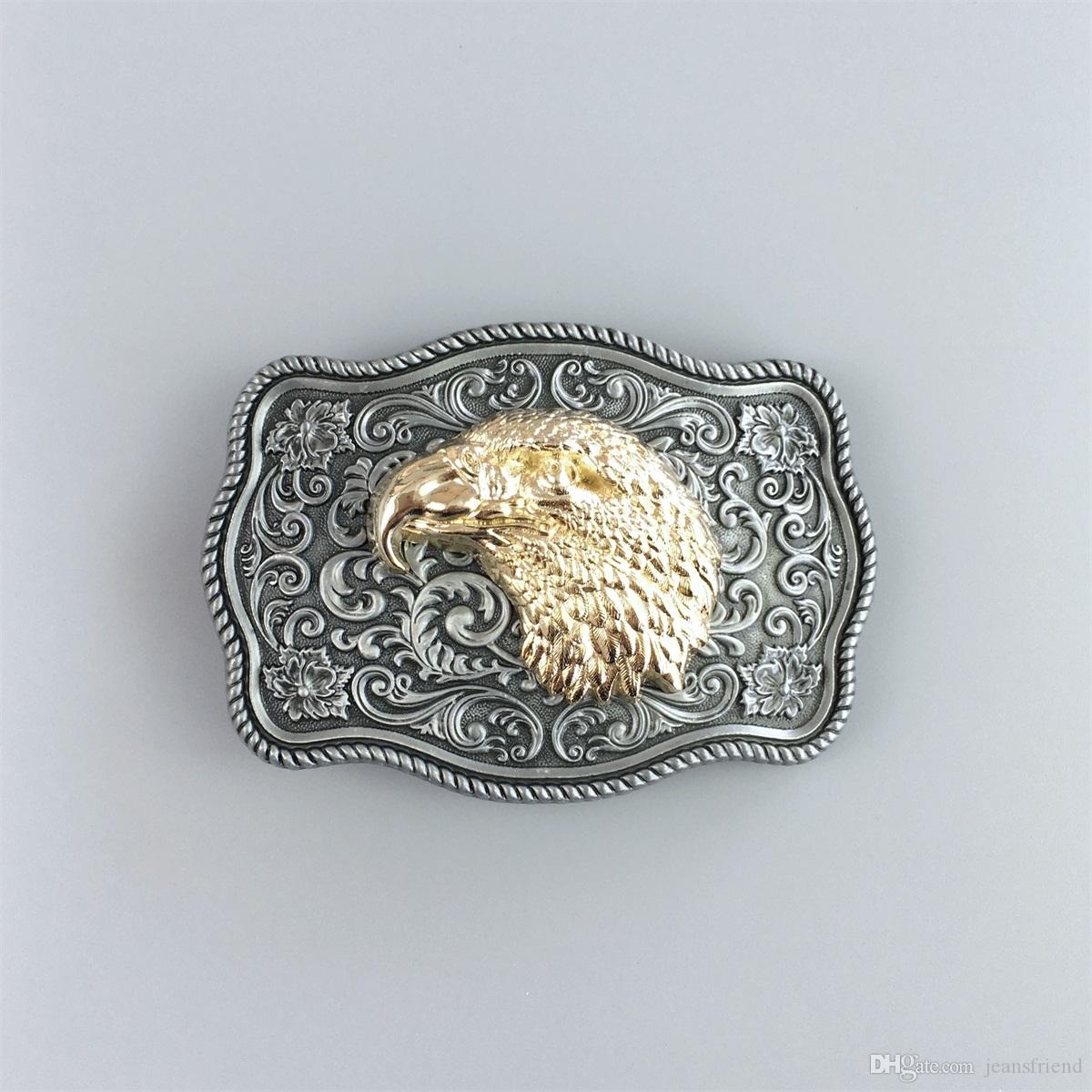 Small Size Vintage Original Eagle Head Western Belt Buckle Gurtelschnalle Boucle de ceinture