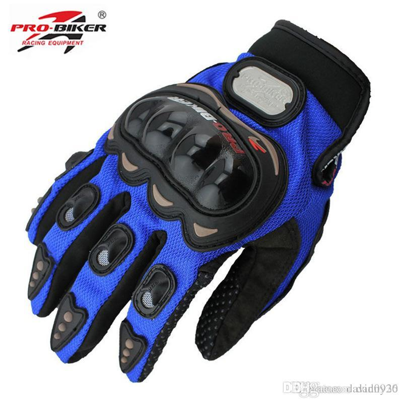 Pro-biker Full Finger Motorcycle Riding Racing Auto Engine Protection Cycling Sport Gloves M/L/XL/XXL MCS-01C Free Ship