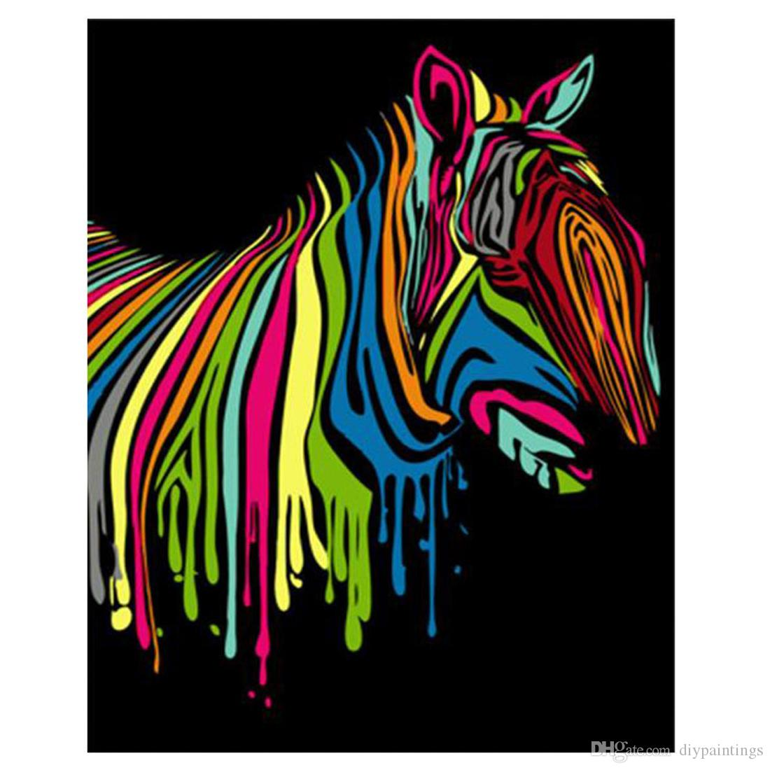 2020 Paint By Numbers Kits With Wooden Framed Or Unframed Diy Abstract Horse Painting With Acrylic Paints Brushes For Adults Beginners Kids From Diypaintings 11 33 Dhgate Com